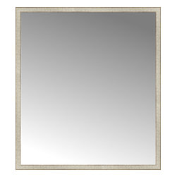 """Posters 2 Prints, LLC - 57"""" x 64"""" Libretto Antique Silver Custom Framed Mirror - 57"""" x 64"""" Custom Framed Mirror made by Posters 2 Prints. Standard glass with unrivaled selection of crafted mirror frames.  Protected with category II safety backing to keep glass fragments together should the mirror be accidentally broken.  Safe arrival guaranteed.  Made in the United States of America"""