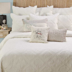 Levtex Home - Seashell Diamond Quilt Set - Featuring an elegant yet homey design and comfy cotton construction, this colorful quilt set complements existing d̩cor while providing a welcoming place for cozy cuddlers. �� Includes quilt and two shams (twin sizes include one sham) Cotton Machine wash; tumble dry Imported