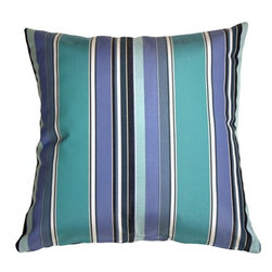 Pillow Decor - Pillow Decor - Sunbrella Dolce Oasis 12 x 20 Outdoor Pillow - The Dolce Oasis throw pillow features stripes so lush and tropical they'll make your mouth water. A perfect coordinate with the Sunbrella Aruba throw pillow. This series of outdoor pillows are made with Sunbrella indoor/outdoor fabrics.