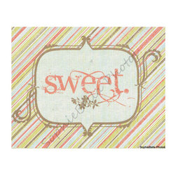 Nursery Art Print, Ever So Sweet by SophieBella Photos - The vintage feel makes this piece a standout, and I adore the color combination.