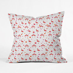 Flamingo Love Pillow Cover - Add a colorful pop of visual interest to any space with this throw pillow cover. Featuring a double-sided print with a concealed zipper, it will add a loving and playful touch to any room. Toss one on a couch, chair, or bed for a comfy cozy splash of flamingo-love design.