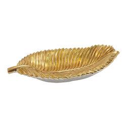 Fascinating Styled Polystone Leaf Plate - Description: