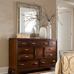 Triple Dresser 104-220 by American Drew Essex - Triple Dresser 104-220 by American Drew Essex Collection : EssexW66 D19 H41Wt. 1 Cubes 38.79 Drawers 1 Door