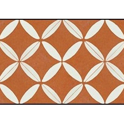 Casart coverings - XOXO Wallcoverings, Rust/White, Backsplash (15 Sq. Ft.), Casart Light - Add some Marrakesh style to your home dcor with this Moroccan-inspired collection of faux tile patterns. This backsplash covering features a red and white Moroccan circular pattern.