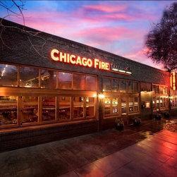 Quantum Windows & Doors | PHA Architects - Chicago Fire Pizza - Sacramento, CA | PHA Architects | Robinson Construction | Quantum Euro Series Slide & Fold Windows, Signature Series Windows and Hinged Doors