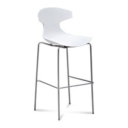 Echo SGA White Barstool by Dom Italia - Dom Italia Seating is the best in the furniture industry. Made in Italy from all high grade materials, these seats provide a subtle look with a quality feel. These Special seats are not considered special order items. They are warehoused in the United States and will arrive depending on where you live within 1-3 weeks.