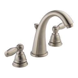 Delta Two Handle Lavatory Faucet - P299196LF-BN - Getting ready in the morning is far from routine when you're surrounded by a room and in the company of a faucet that reflects your personal style