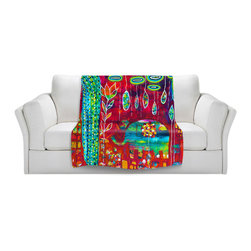 DiaNoche Designs - Throw Blanket Fleece - Elephants Eden - Original Artwork printed to an ultra soft fleece Blanket for a unique look and feel of your living room couch or bedroom space.  DiaNoche Designs uses images from artists all over the world to create Illuminated art, Canvas Art, Sheets, Pillows, Duvets, Blankets and many other items that you can print to.  Every purchase supports an artist!