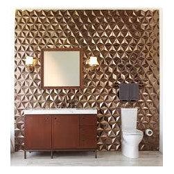 Japanese Geo Tessellation in Metallic Gold -