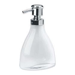 Umbra - Umbra Vapor Soap Pump - Umbra's stylish Vapor soap pump will keep your bathroom looking ever so good. Molded glass with etched finish on interior and high-gloss finish on the exterior of the container. 11 ounce capacity. Use it alone or alongside other items within the Vapor collection. Umbra is the worldwide leader in casual, contemporary and affordable design for the home.