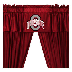 Store51 LLC - NCAA Ohio State Buckeyes College 5pc Valance-Curtains Set - FEATURES:
