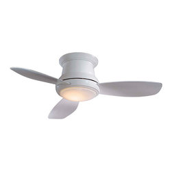 Minka-Aire - Minka-Aire 44-inch Concept II Fan in White F518-WH - Simple in design yet still making a statement in any room, the Concept II fan from Minka requires 75% less time and labor to assemble than conventional ceiling fans.