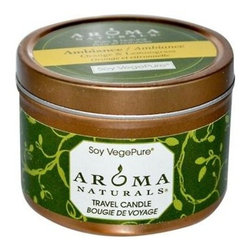 Soy Vegepure Travel Candle Ambiance Orange And Lemongrass - 1 Candle - Aroma Naturals Soy VegePure Travel Candle Ambiance Orange and Lemongrass Description: