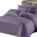 "Lasin Bedding - Lasin Hotel Collection 100% Cotton 6-Piece Bedding Sets, Queen/ Full, Purple, Qu - Decorate your room with our gorgeous purple bedding. Purple is the color of royalty and that is how you will feel sleeping in these sheets. Made of 100% high quality cotton, our bedding sets are soft and comfortable, just the way you need for a good night sleep. Our 5 star ""Hotel Collection"" bedding sets includes one fitted sheet, one duvet cover, two decorative pillow cases and two pillow cases. Go classy with your bed."