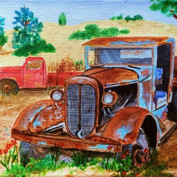 1936 Corbitt One Ton Truck (Original) by Sharon  Woods - I found this old Corbitt in a junk yard in Arizona.