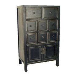 Wayborn - Suchow 8-Drawer Dresser Chest in Antique Fini - Made from Basswood. Antique smooth finish. Worn look. 25 in. W x 16 in. D x 42 in. H (65 lbs.)