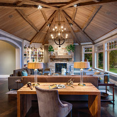 Transitional Living Room by DeLeers Construction, Inc.
