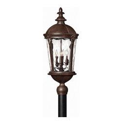 Hinkley Lighting - Hinkley Lighting 1891RK Windsor River Rock Outdoor Post Light - Hinkley Lighting 1891RK Windsor River Rock Outdoor Post Light