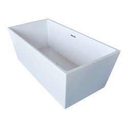 Venzi - Venzi Vida Collection 32 x 67 Rectangle Acrylic Freestanding Bathtub - Allow yourself the pleasure of soaking in a luxuriously designed freestanding bathtub. Ergonomically crafted from high grade acrylic for a rich immersive experience. The light weight, one piece design allows for an easier standard installation process.