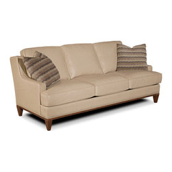 Hooker Furniture - Hooker Furniture Ludlow Sofa 1030-52006 - With a metropolitan and modern attitude, Ludlow is distinguished by an intriguing walnut veneer story and hip fretwork detail.