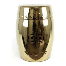 Ceramic Garden Stool Gold - *Ceramic Garden Stool Gold