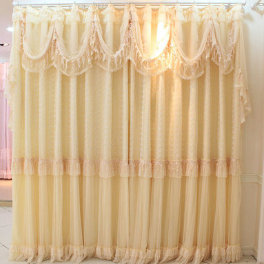 Customized Curtains in Yellow Color -