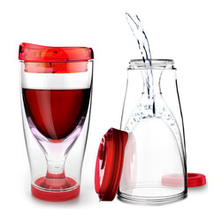 Adnart - Ice Vino 2 Go, Red - Chill your wine in the actual cup while you are sipping!