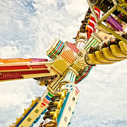 """""""Hastings Fun Fair 3"""" Artwork - Image from award winning series documenting the seaside town of Hastings, East Sussex, UK.  Limited edition of 25, signed, dated numbered with certificate of authenticity."""