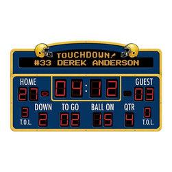 RR - Personalized Football Scoreboard Peel and Stick Wall Mural - Personalized Football Scoreboard Peel and Stick Wall Mural