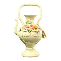 Capodimonte - Consigned Vintage Italian Teapot Pitcher Vase - Product Details