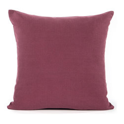 "Blooming Home Decor - Solid Wine Red Accent / Throw Pillow Cover - (Available in 16""x16"", 20""x20"")"