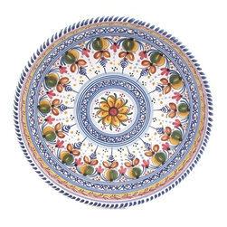 "Spanish Majolica 13"" High Sided Decorative Plate - Spanish Majolica 13"" High Sided Decorative Plate"