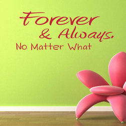 ColorfulHall Co., LTD - Wall Stickers For Bedrooms Forever & Always No Matter What - Wall Stickers for Bedrooms Forever & Always No Matter What