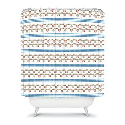 DENY Designs - DENY Designs Jennifer Denty Anchor Small Shower Curtain - 12934-SHOCUR - Shop for Shower Curtains from Hayneedle.com! Pull up anchor and set sail on a sea of style with the ultra cute DENY Designs Jennifer Denty Anchor Small Shower Curtain. The bright and cheery nautical print is happy and colorful. Make your bathroom the most fun room in the house with this modern shower curtain.About DENY DesignsDenver Colorado based DENY Designs is a modern home furnishings company that believes in doing things differently. DENY encourages customers to make a personal statement with personal images or by selecting from the extensive gallery. The coolest part is that each purchase gives the super talented artists part of the proceeds. That allows DENY to support art communities all over the world while also spreading the creative love! Each DENY piece is custom created as it's ordered instead of being held in a warehouse. A dye printing process is used to ensure colorfastness and durability that make these true heirloom pieces. From custom furniture pieces to textiles everything made is unique and distinctively DENY.