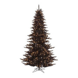 Vickerman Black Fir Pre-lit Christmas Tree - The Vickerman Black Fir Pre-lit Christmas Tree is a crisp black fir tree that boasts a variety of features to make your holiday special. The tree features PVC tips with hinged branch construction, as well as an on/off foot pedal switch for your convenience.Specifications for 14-foot tree Shape: Medium Base Width: 94 inches Number of Bulbs: 2250 Number of Tips: 6921Specifications for 12-foot tree Shape: Medium Base Width: 82 inches Number of Bulbs: 1650 Number of Tips: 4631Specifications for 10-foot tree Shape: Medium Base Width: 68 inches Number of Bulbs: 1150 Number of Tips: 2980Specifications for 9-foot tree Shape: Medium Base Width: 64 inches Number of Bulbs: 1000 Number of Tips: 2326Specifications for 7.5-foot tree Shape: Medium Base Width: 52 inches Number of Bulbs: 750 Number of Tips: 1634Specifications for 6.5-foot tree Shape: Medium Base Width: 46 inches Number of Bulbs: 600 Number of Tips: 1216Specifications for 5.5-foot tree Shape: Medium Base Width: 34 inches Number of Bulbs: 400 Number of Tips: 794Specifications for 4.5-foot tree Shape: Medium Base Width: 34 inches Number of Bulbs: 250 Number of Tips: 525 Specifications for 3-foot tree Shape: Medium Base Width: 25 inches Number of Bulbs: 100 Number of Tips: 234Don't Forget to Fluff!Simply start at the top and work in a spiral motion down the tree. For best results, you'll want to start from the inside and work out, making sure to touch every branch, positioning them up and down in a variety of ways, checking for any open spaces as you go.As you work your way down, the spiral motion will ensure that you won't have any gaps. And by touching every branch you'll create the desired full, natural look.About VickermanThis product is proudly made by Vickerman a leader in high quality holiday decor. Founded in 1940, the Vickerman Company has established itself as an innovative company dedicated to exceeding the expectations of their customers. With a wide variety of re