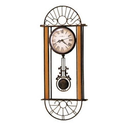 HOWARD MILLER - Howard Miller Devahn Wrought-Iron Wall Clock - This wrought iron wall clock features: