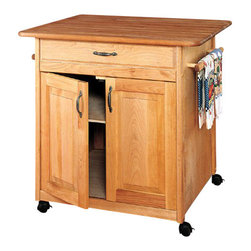 Catskill Craftsmen - Catskill Craftsmen Big Island Butcher Block Kitchen Cart in Natural Finish - Catskill Craftsmen - Kitchen Carts - 63036 - Refined, classical elegance comes to your kitchen space with the Catskill Craftsmen Big Island. The locked casters make this unit an easy, mobile addition to your home. Make something absolutely delicious with the Big Island.