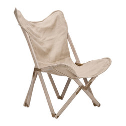 "Safavieh - Mercer Beige Modern Chair - The Mercer chair makes an intriguing visual statement in contemporary interiors. An unexpected folding frame supports its curved beige linen seat, offering modern form and functionality. 35.8""W x 28""D x 40.6""H; 100% linen; Birch wood frame; Brass hinges; Spot clean only"