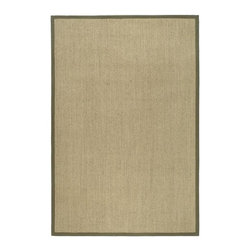 Safavieh - Natural Fiber Rectangular Sisal Rug in Natural and Green (9 ft. x 6 ft.) - Size: 9 ft. x 6 ft. Traditional style. Power loomed. Soft and durable. Made from sisal. Made in India. This densely woven rug will add a warm accent and feel to any home. The 100-percent cotton canvas backing adds durability. Care Instructions: Vacuum regularly. Brushless attachment is recommended. Avoid direct and continuous exposure to sunlight. Do not pull loose ends; clip them with scissors to remove. Remove spills immediately; blot with clean cloth by pressing firmly around the spill to absorb as much as possible. For hard-to-remove stains professional rug cleaning is recommended.