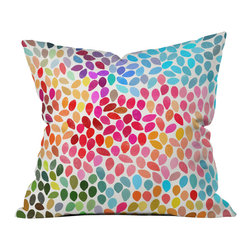 DENY Designs - Garima Dhawan Rain 6 Outdoor Throw Pillow - Do you hear that noise? it's your outdoor area begging for a facelift and what better way to turn up the chic than with our outdoor throw pillow collection? Made from water and mildew proof woven polyester, our indoor/outdoor throw pillow is the perfect way to add some vibrance and character to your boring outdoor furniture while giving the rain a run for its money.