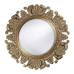 Nita Ornate Round Mirror - This mirror is classic, but it could also mesh well in a modern setting.