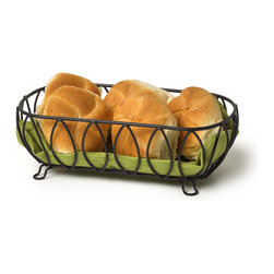Spectrum Diversified Designs - Leaf Bread Basket - Black - Serve bread, rolls and muffins in this Leaf Bread Basket. Made of sturdy black steel with a black finish. A favorite hospitality item for restaurants and hotels.