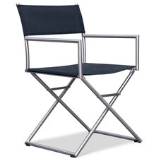 Contemporary Outdoor Chairs Aisun Black Garden Chair - Currently out of stock.
