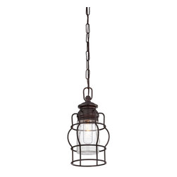 Savoy House - Savoy House 7-5061-1-13 Vintage Mini Pendant - These sleek Savoy House mini pendants are vintage inspired with metal shades and cages.  Available in English Bronze and Satin Nickel.