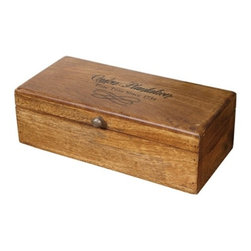 Wood Box - Wooden boxes are a something no one can live without; try using them to store receipts, keys, pictures, and - of course - the remote control.