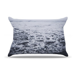 """Kess InHouse - Leah Flores """"Out to Sea"""" Gray Coastal Pillow Case, Standard (30"""" x 20"""") - This pillowcase, is just as bunny soft as the Kess InHouse duvet. It's made of microfiber velvety fleece. This machine washable fleece pillow case is the perfect accent to any duvet. Be your Bed's Curator."""