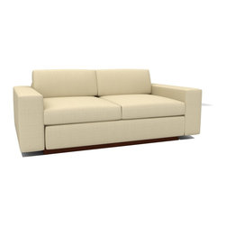 True Modern - Jackson Love SOFA - Tumbleweed - When you need just a little extra seating a chic love seat is the way to go. Down-filled pillows and cushions give you a cozy place to curl up with a good book or favorite show. All that's left is to pick out your favorite color. What are you waiting for?