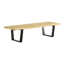 Modway - Modway EEI-176 Sauna 5' Bench in Natural - The Sauna Bench is a versatile piece of furniture perfect for businesses and private homes alike. Appropriate for porches, halls and receptions areas, it can also be used as accent seating for living rooms or kitchens.