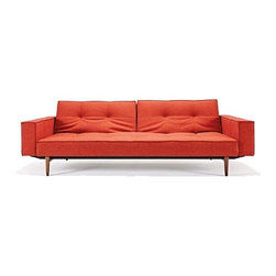 Innovation USA - Innovation USA | Splitback Sofa with Arms, Wood Base - Quickship - Design by Per Weiss, 2012.