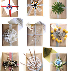 eclectic  Gift Wrapping Ideas from Compai Blog